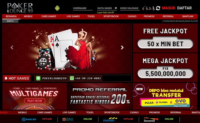 Pokerlounge99 Asia : Penyedia Layanan Bermain Taruhan Online Terbaik
